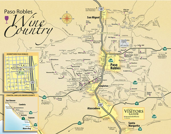 wine tours map of paso robles