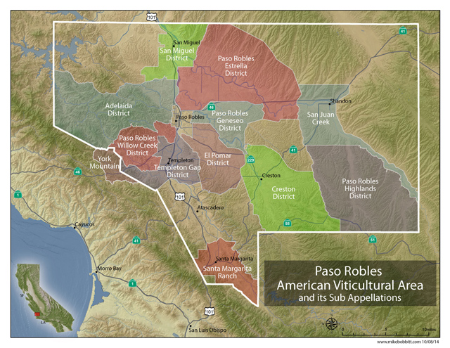 wine tour of new paso robles viticultural areas